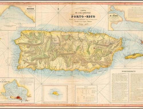 Carte de L'Ile Espagnole de Porto-Rico (1853)