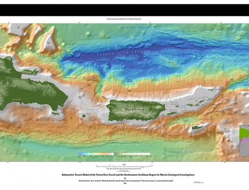 Modelo batimétrico de la trinchera de Puerto Rico y la región noreste del Caribe (2014)