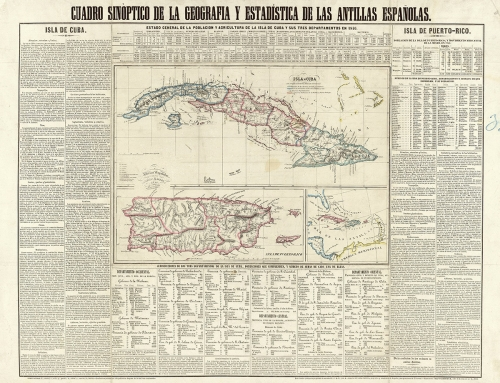 Mapa de las Antillas españolas (1850)
