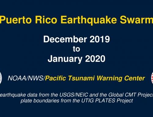 Puerto Rico Earthquake Swarm: December 2019 – January 2020