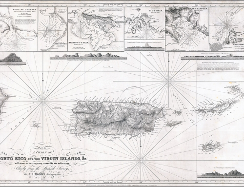 A Chart of Porto Rico and the Virgin Islands (1850)